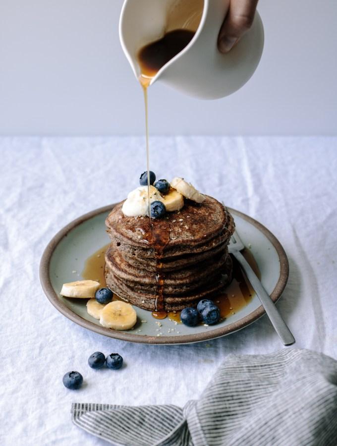 Buckwheat Banana Blender Pancakes, Gluten-free —warmandrosy.com