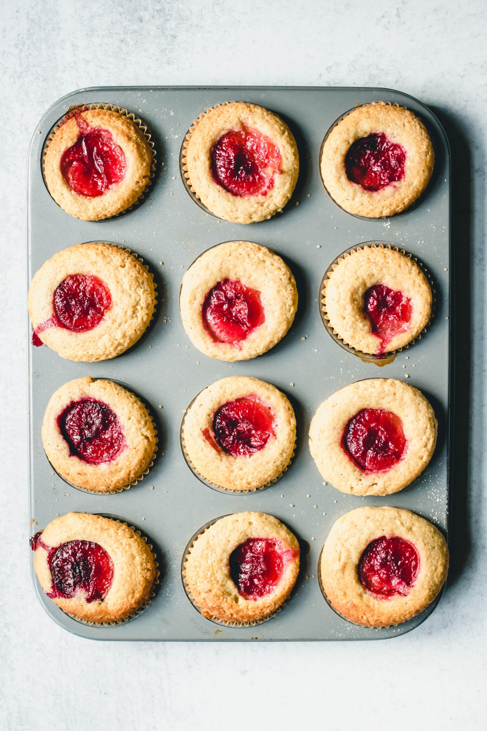 Plum Cupcakes with Almond + Millet — warmandrosy.com
