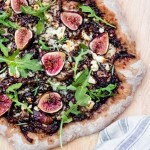 Fig and Goat Cheese Pizza with Balsamic, Onion + Rosemary