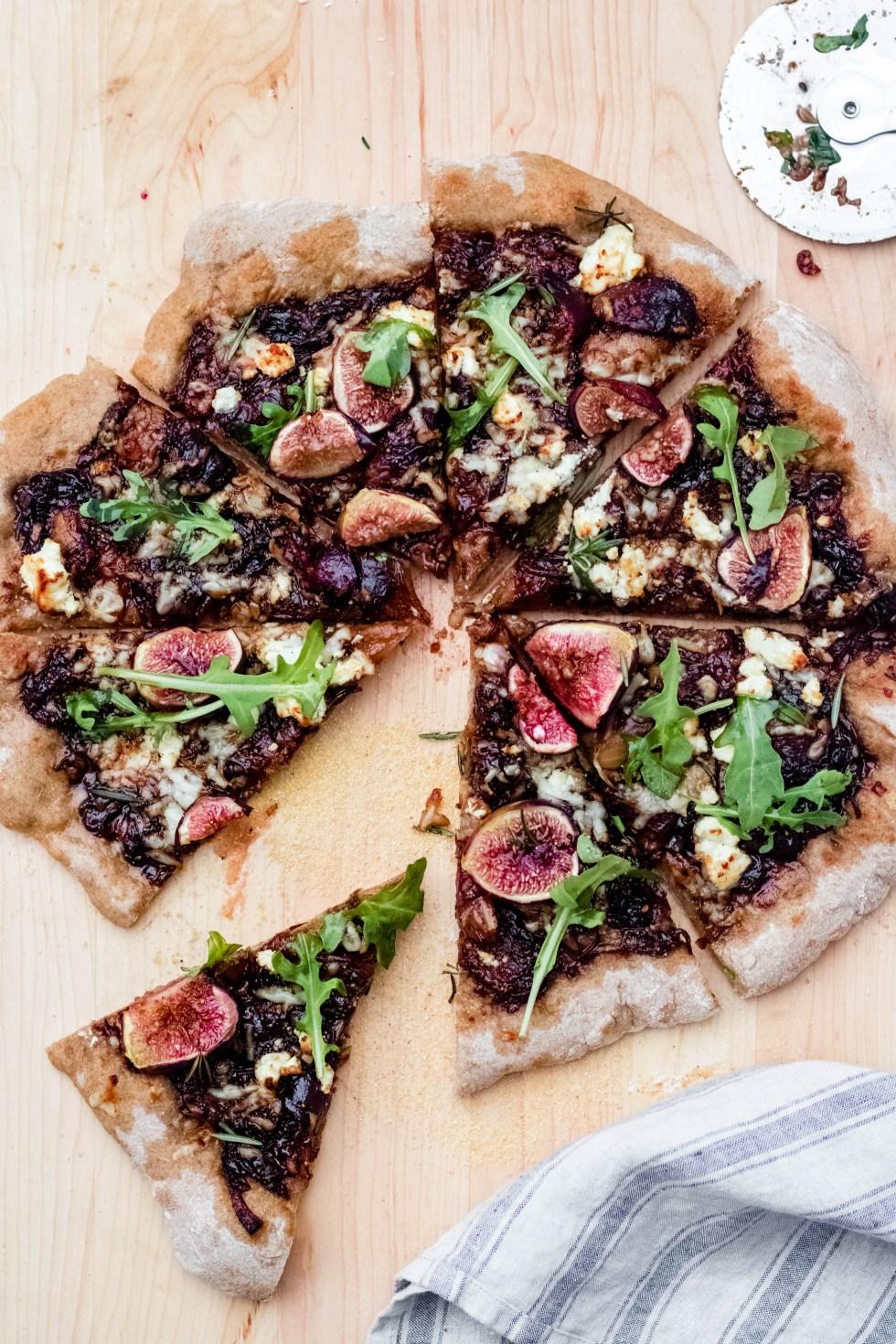Fig, Balsamic + Goat Cheese Pizza — warmandrosy.com