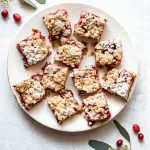 cranberry ginger crumble bars — warmandrosy.com