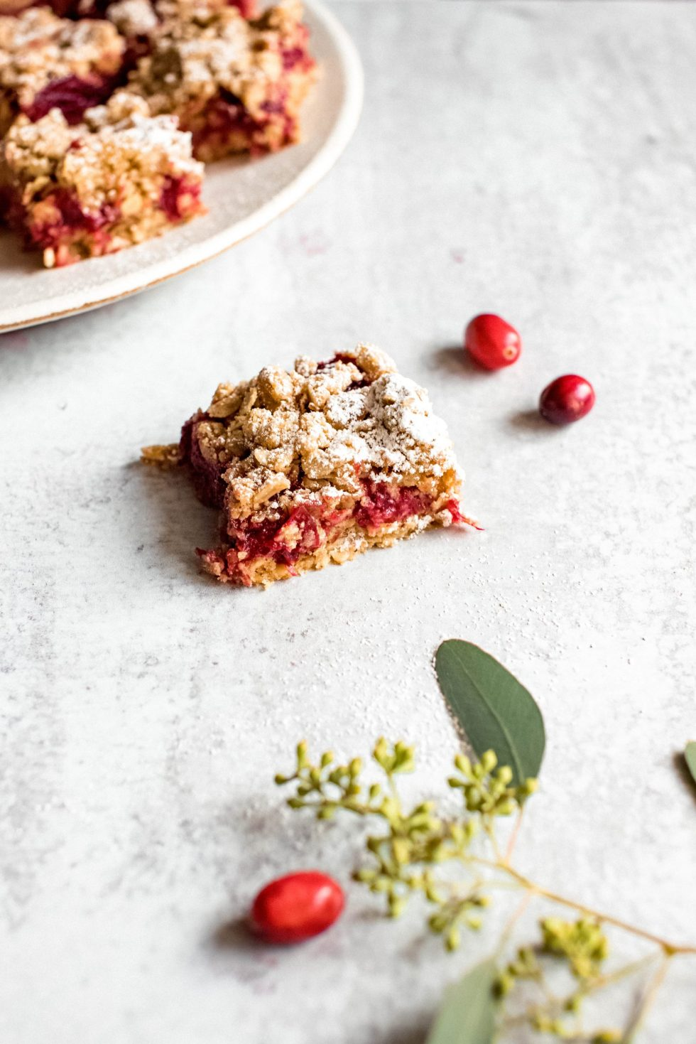 cranberry ginger crumble bars — warmandrosy.com