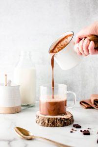 Creamy Oat Milk Hot Chocolate — warmandrosy.com