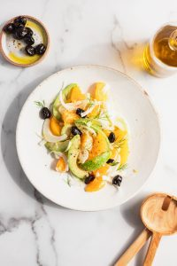 orange, fennel, avocado and olive salad — warmandrosy.com