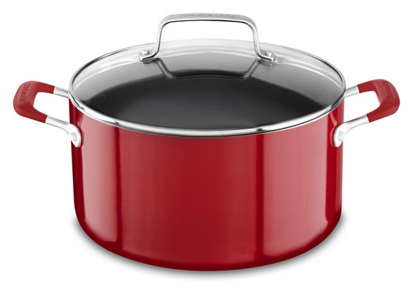 KitchenAid® Aluminum Nonstick 6.0 Quart Stockpot with lid