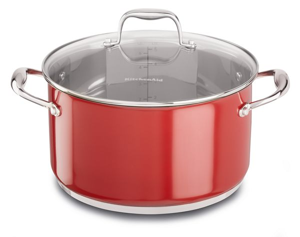KitchenAid® Stainless Steel 6.0-Quart Low Casserole with Lid