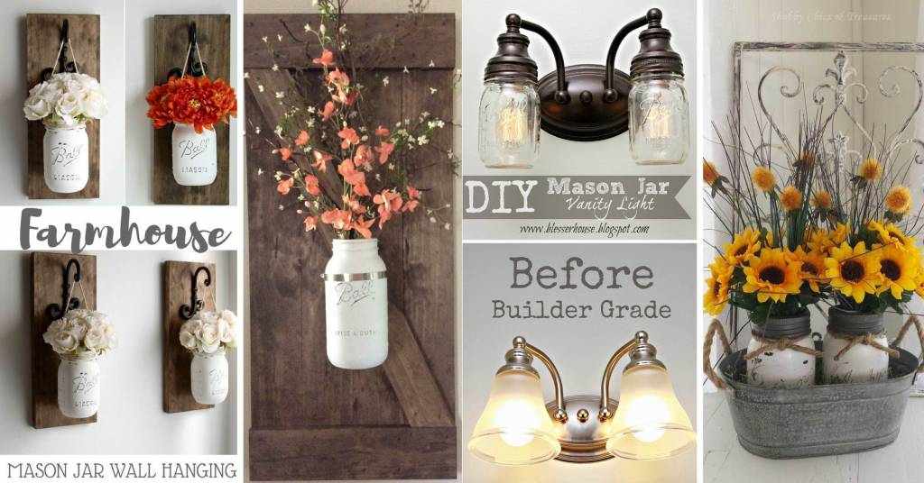 14 Farmhouse Mason Jar Decor Inspirations That Are No Less