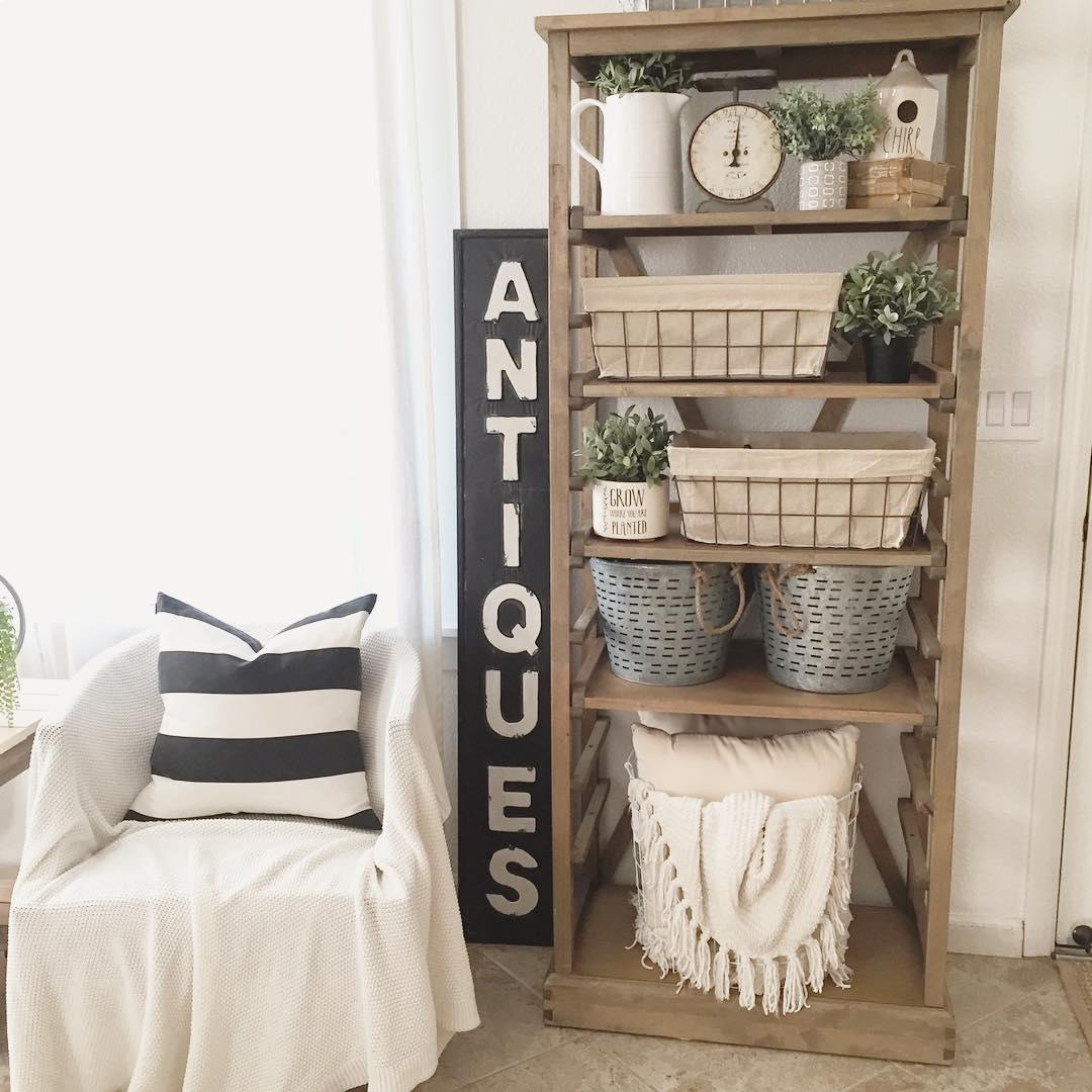 19 Farmhouse Style Bookshelf Ideas Glorifying Your Space In