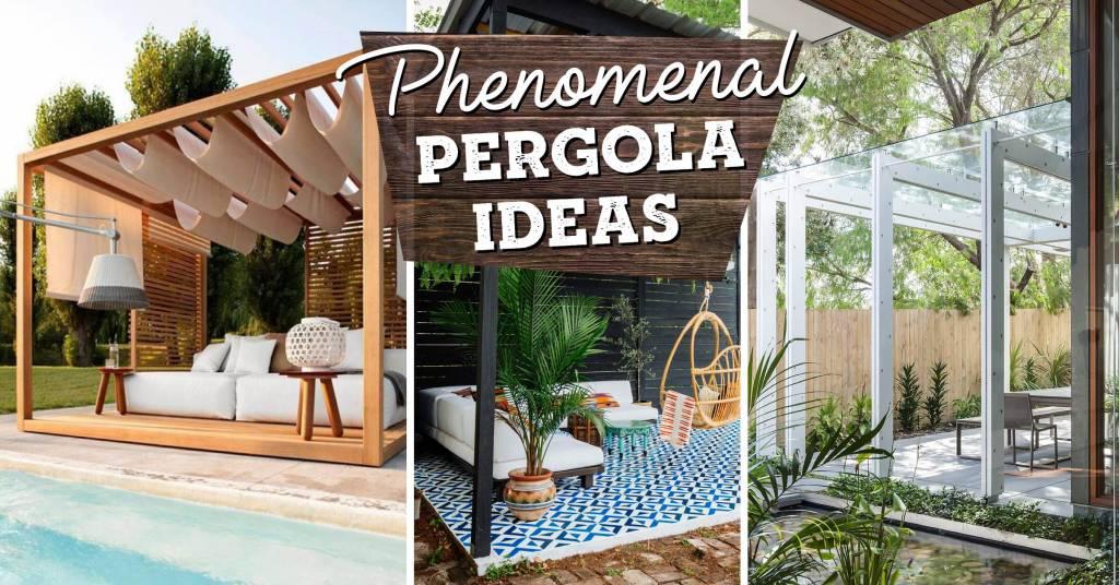 18 Phenomenal Pergola Ideas That Top A Patio Or Decorate