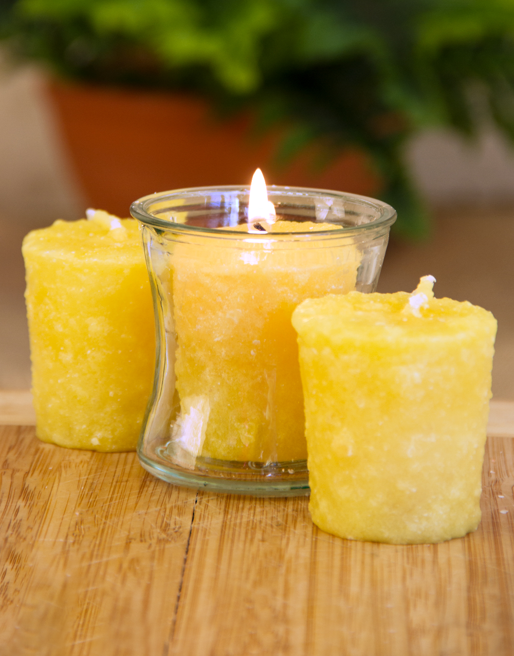 Butter Rum 3 Pack Votive Candles