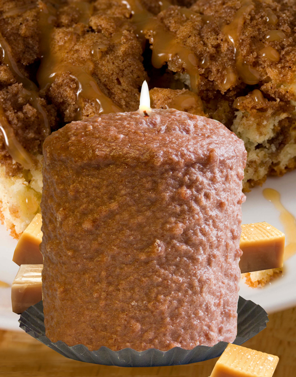 Caramel Coffee Cake Hearth Candle