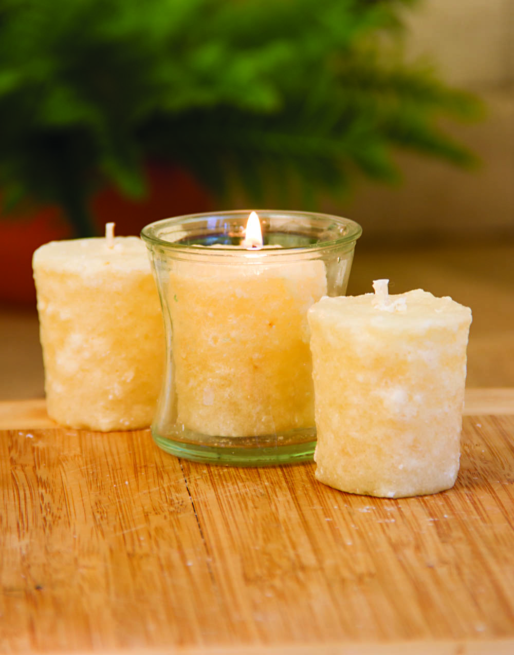 Caramel Corn 3 Pack Votive Candles