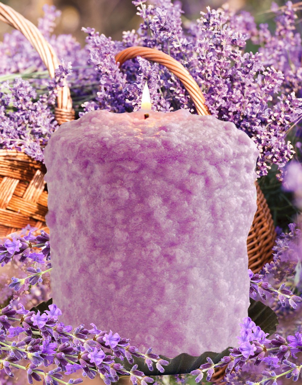 Vintage Lavender Hearth Candle