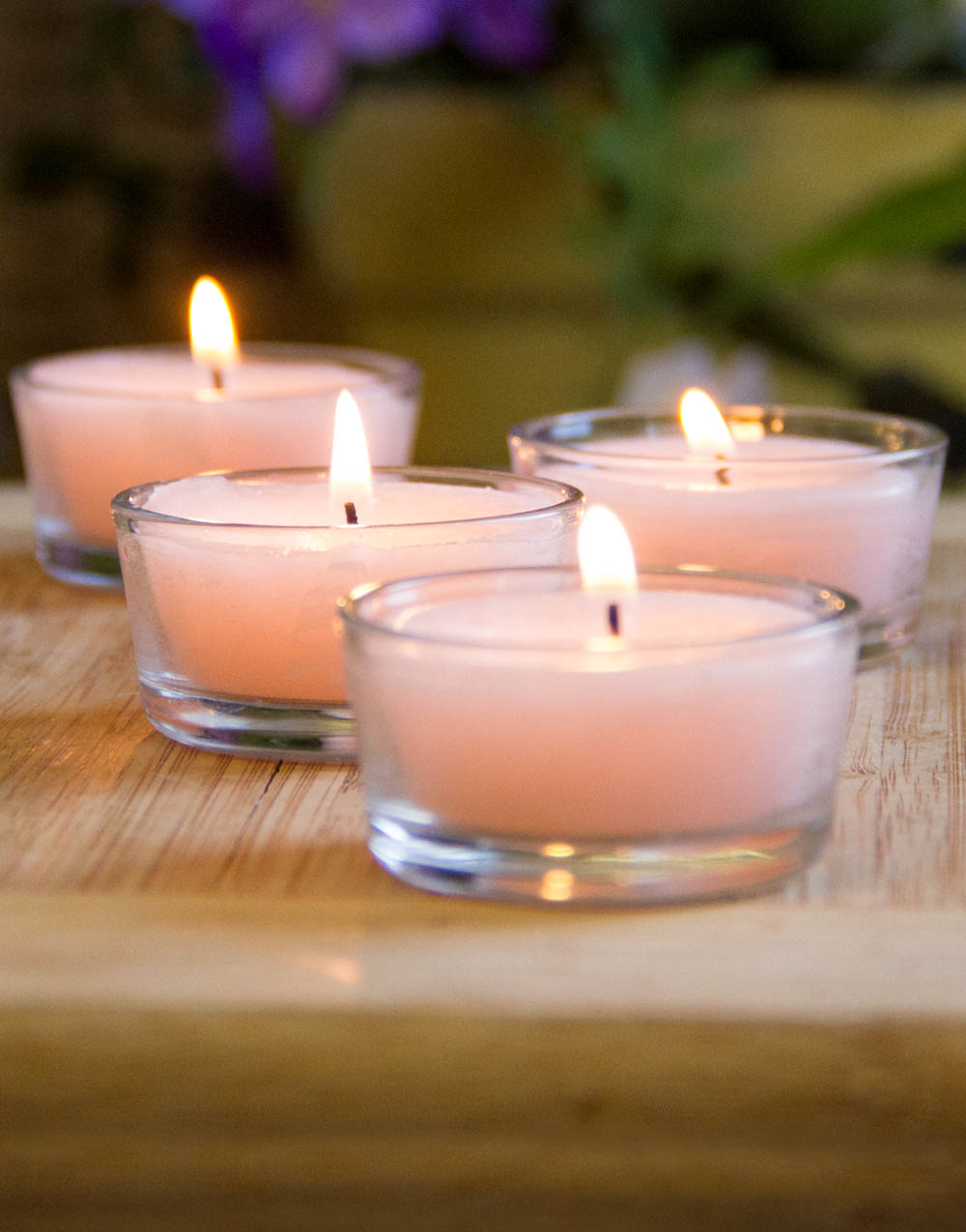 Pink Champagne 4 Pack Tealights