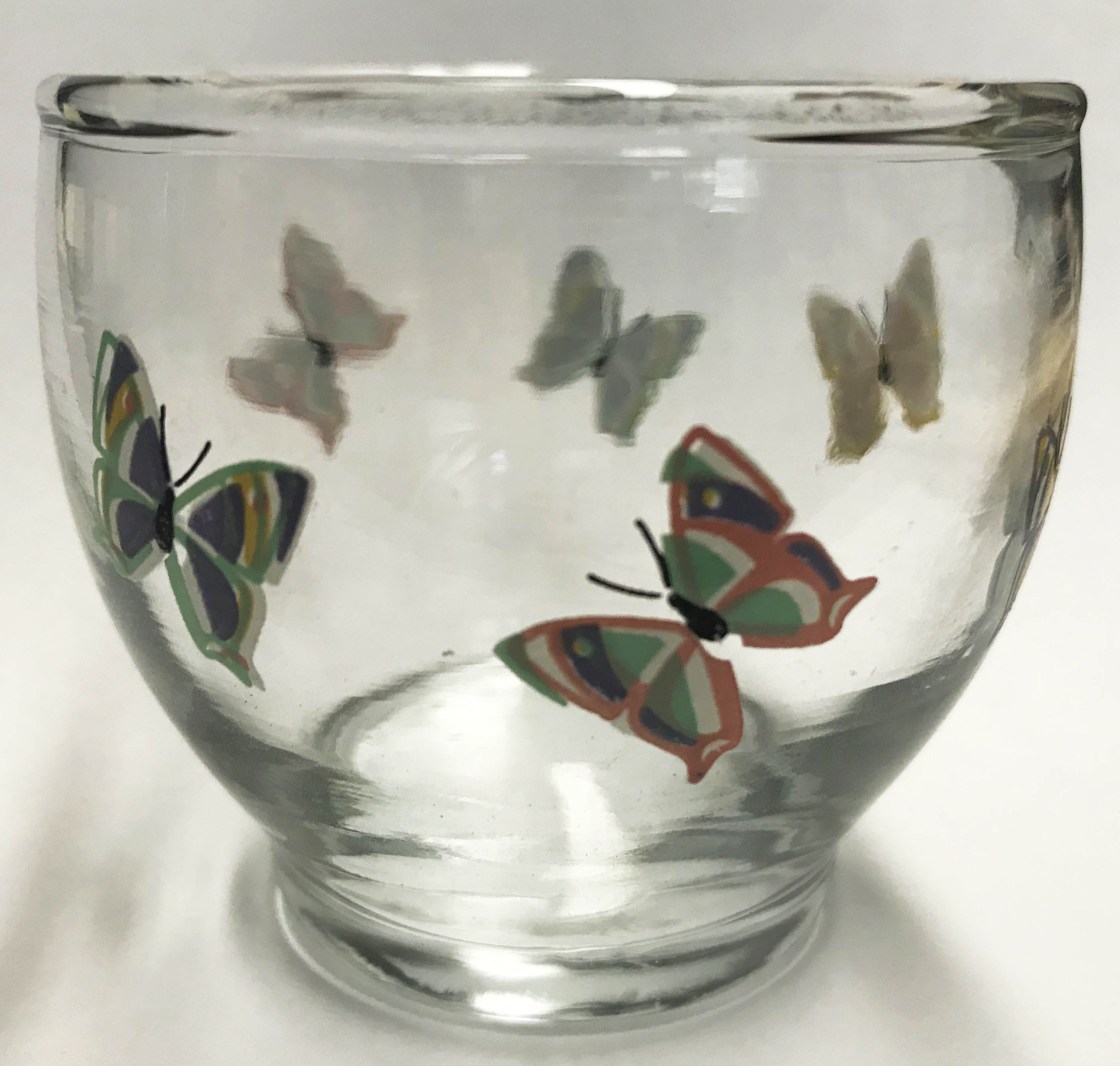 Butterfly Glass Votive Cup