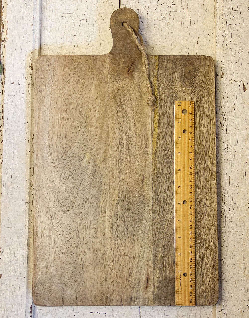 wood board with ruler