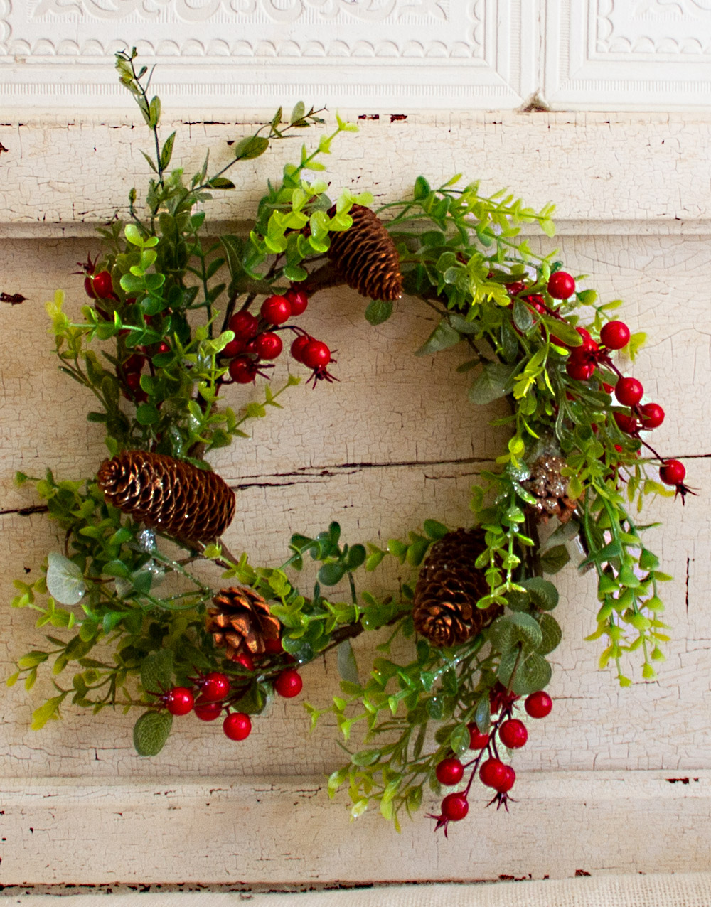 Nature's Christmas Candle Wreath