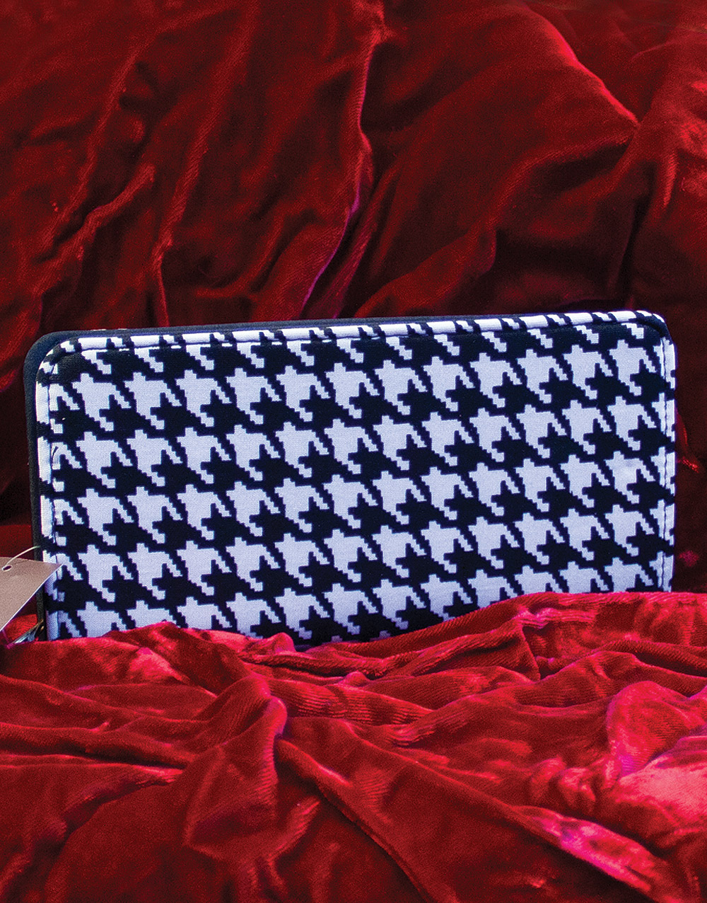 Black & White Houndstooth Nupouch Wallet