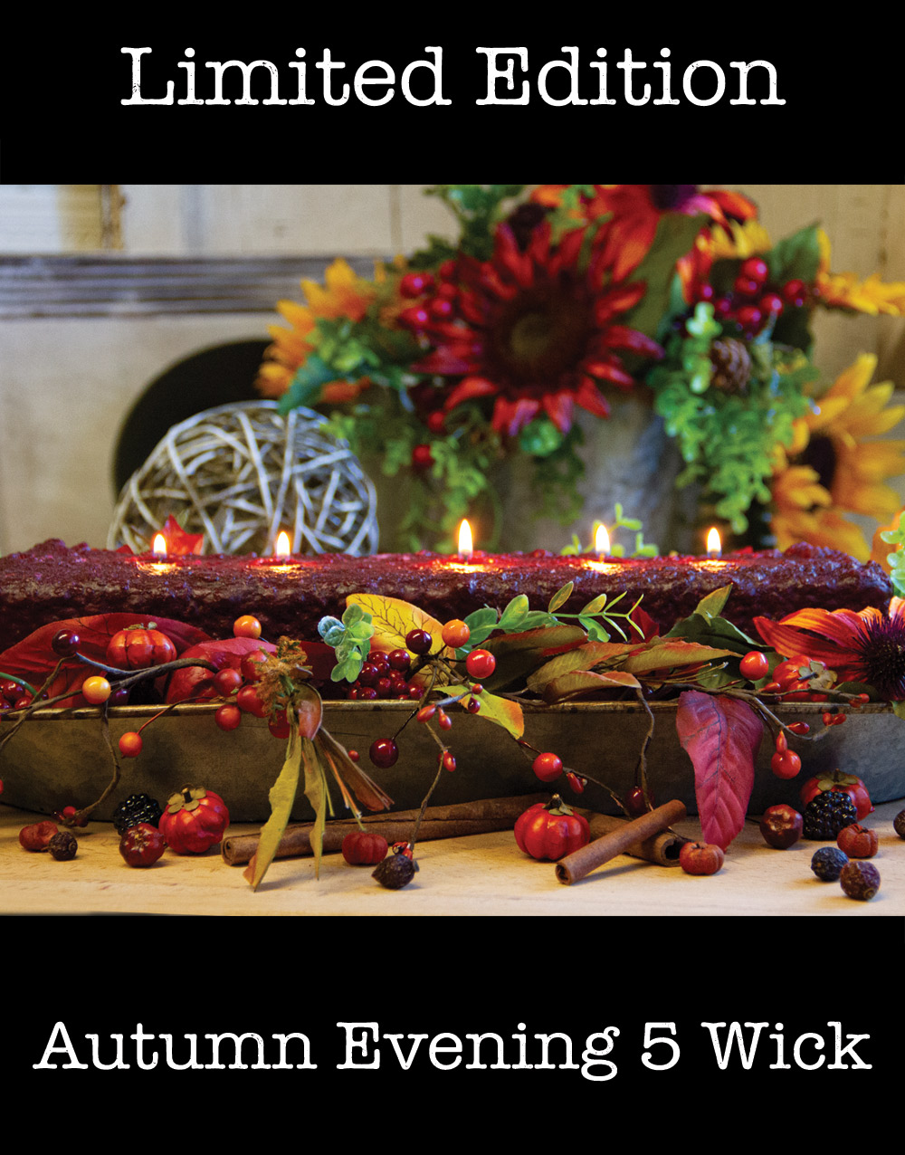 Holiday Edition 5 Wick Loaf Candle – Autumn Evening