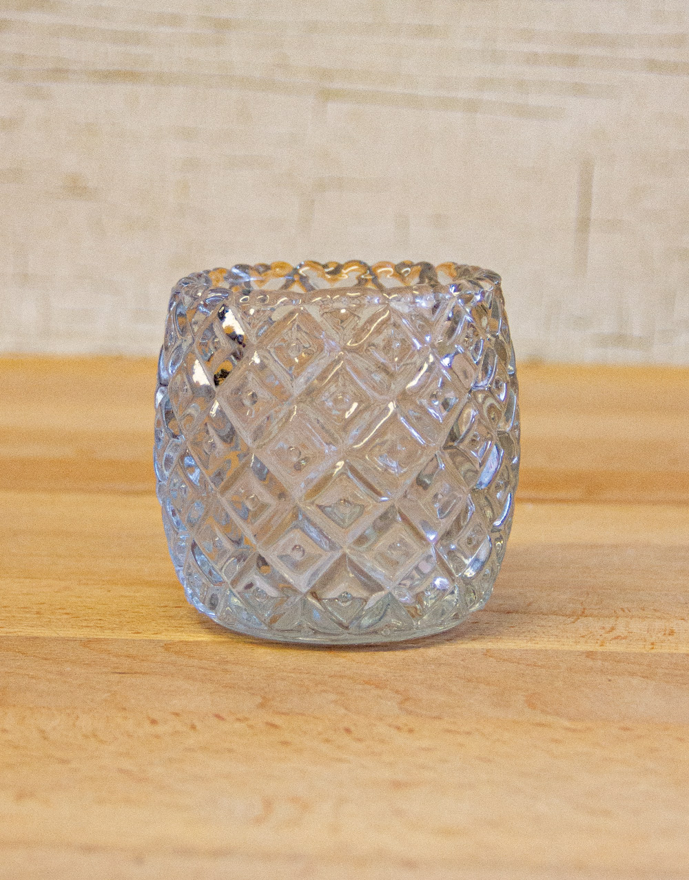Patchwork Glass Votive Cup