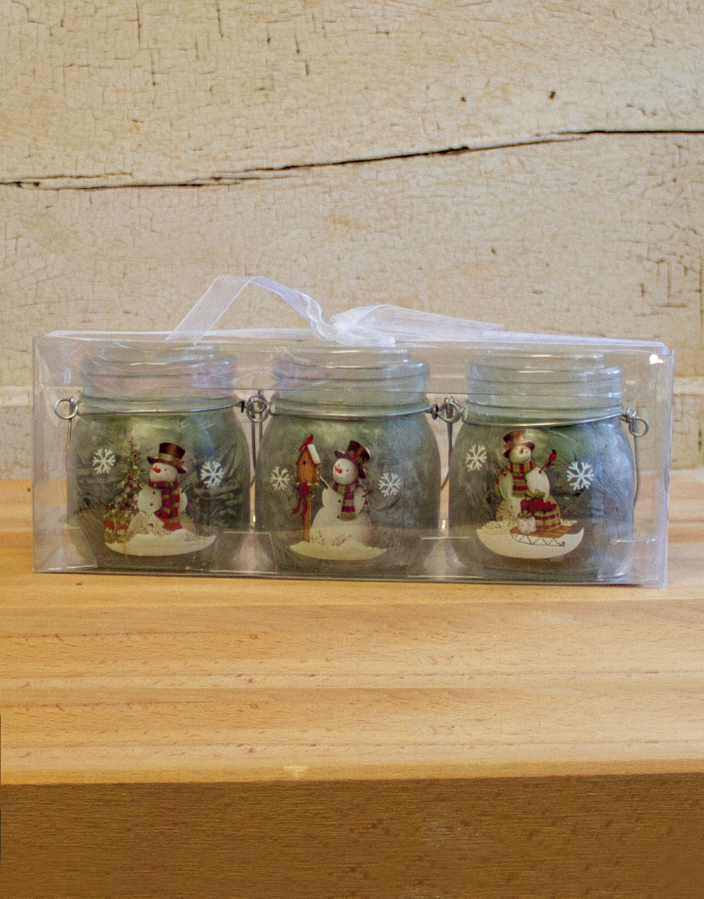 Frosted Snowman Set of 3 – Christmas Tinsel