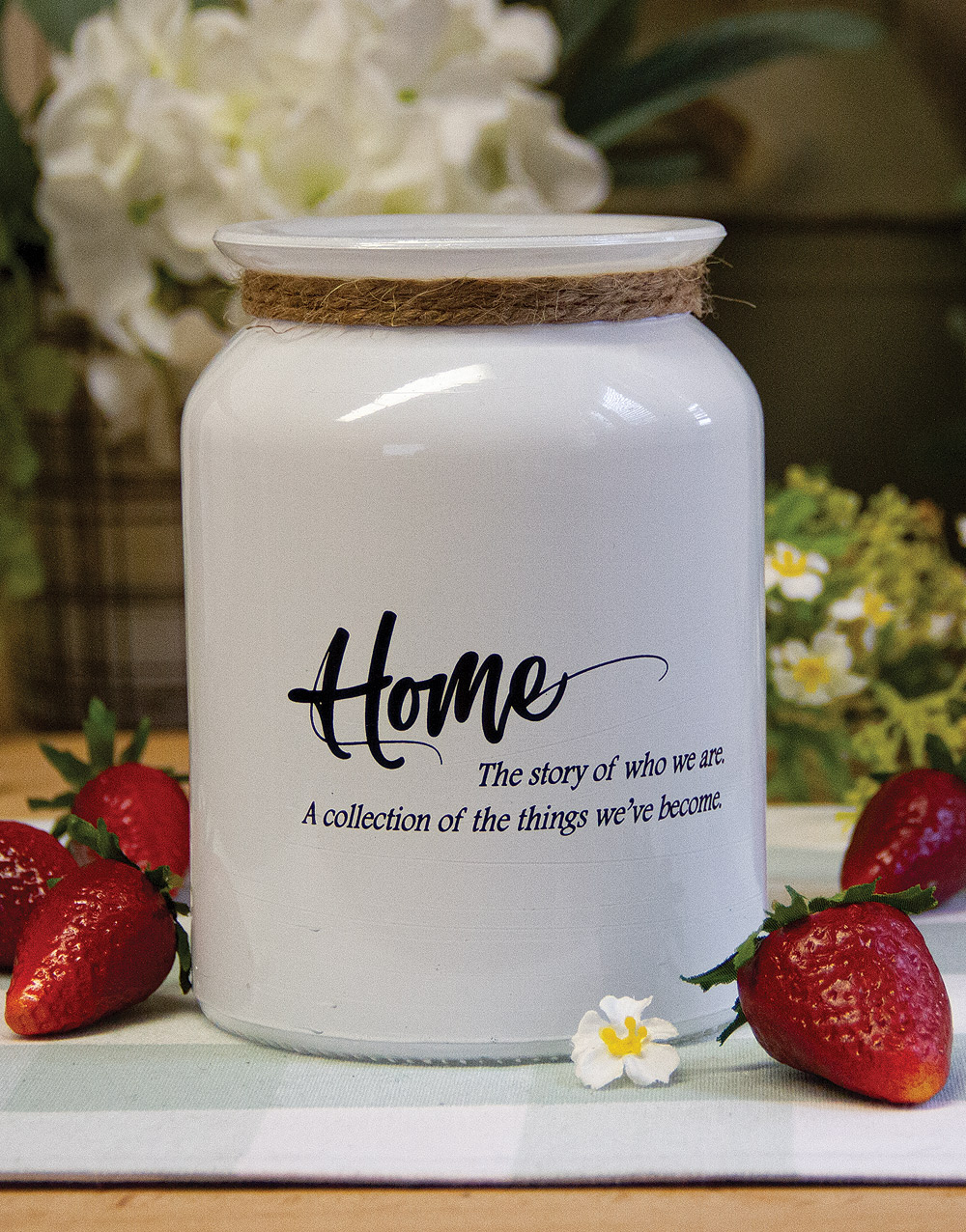 White Home Jar