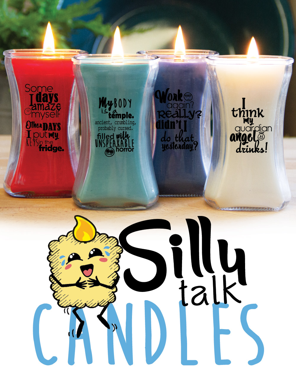 Silly Talk Wood Wick Candle