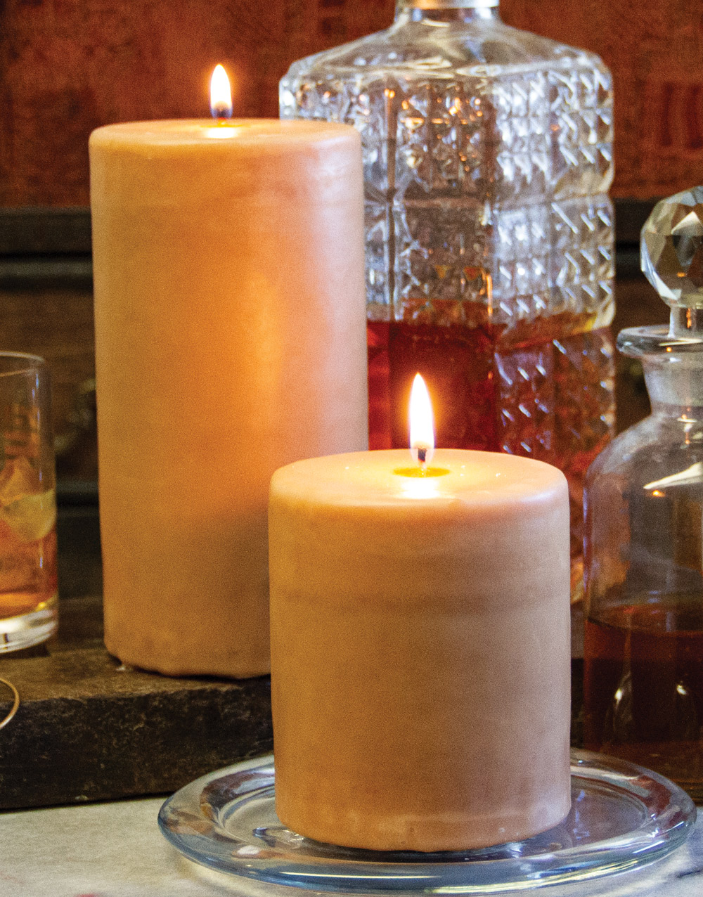 Aurora Pillar Candle – Sweet Cognac