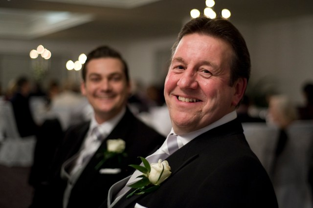 Bride's father and brother, New Year's Eve Wedding, Woodlands Park Hotel, Cobham. Photographed by Anna Hindocha/Warm Glow Photo