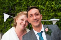 Bride, and Groom, at The Rosendale, Dulwich. Photographed by Anna Hindocha/Warm Glow Photo.