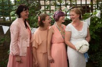 Bridesmaids with the Bride at The Rosendale, Dulwich. Photographed by Anna Hindocha/Warm Glow Photo.