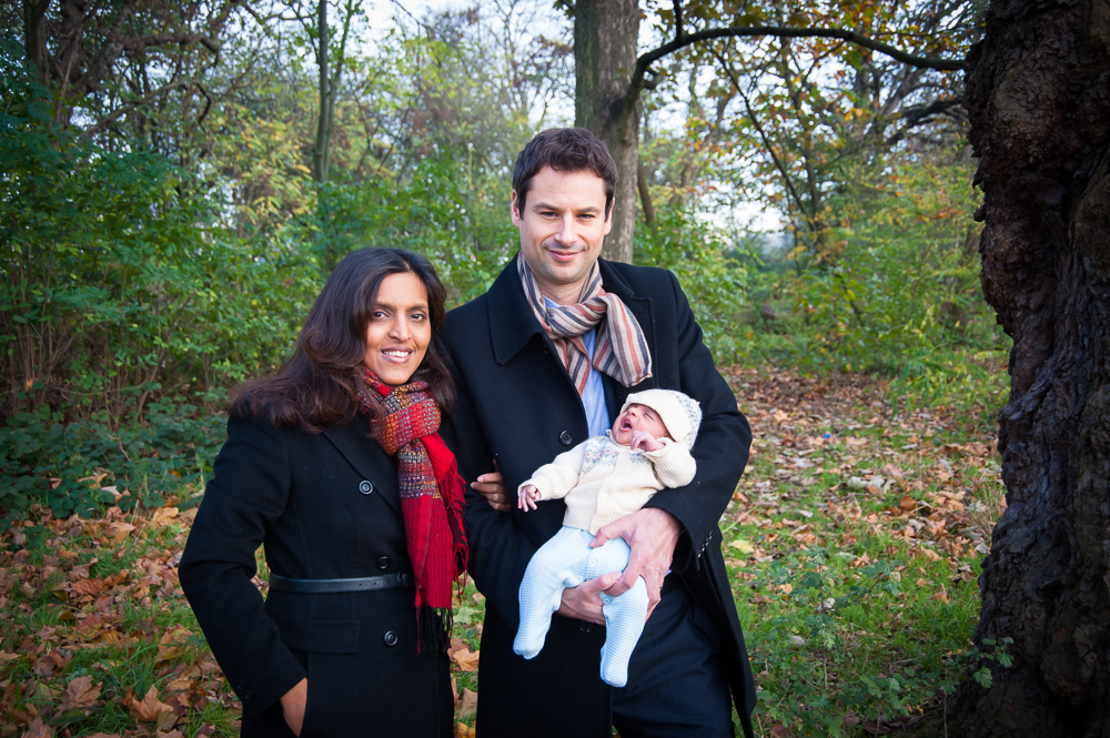 A newborn photo session on Clapham Common