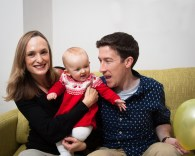 Family portrait at home in East Dulwich