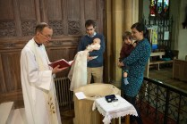 Catholic baptism at St. Thomas More RC Church in Dulwich. Photographed by Anna Hindocha/Warm Glow Photo