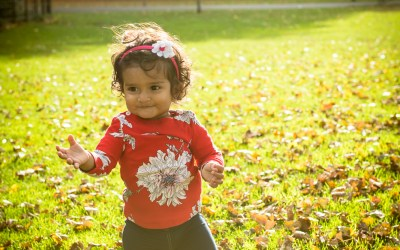 Autumn family portrait session in Battersea Park