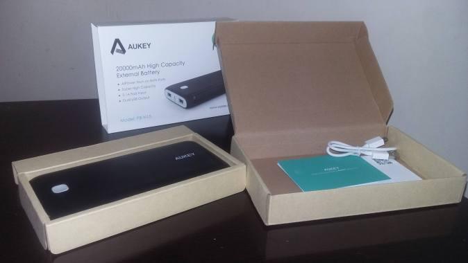 test avis batterie aukey 20000 mah