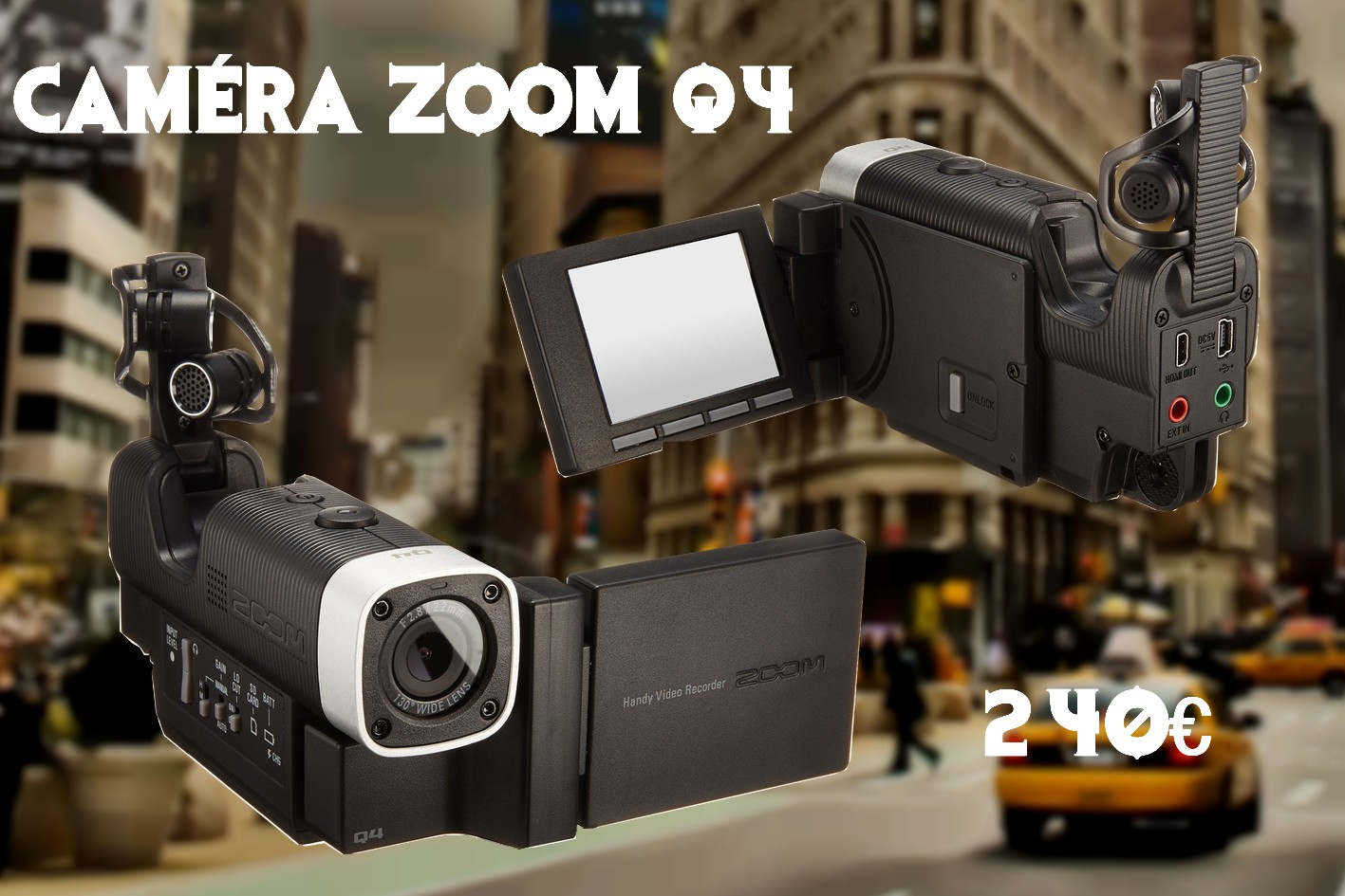 Bon plan camera vlog miniature zoom q4