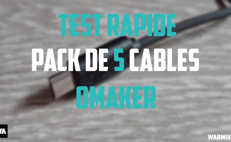 Câbles omaker pack 5 cables pas cher