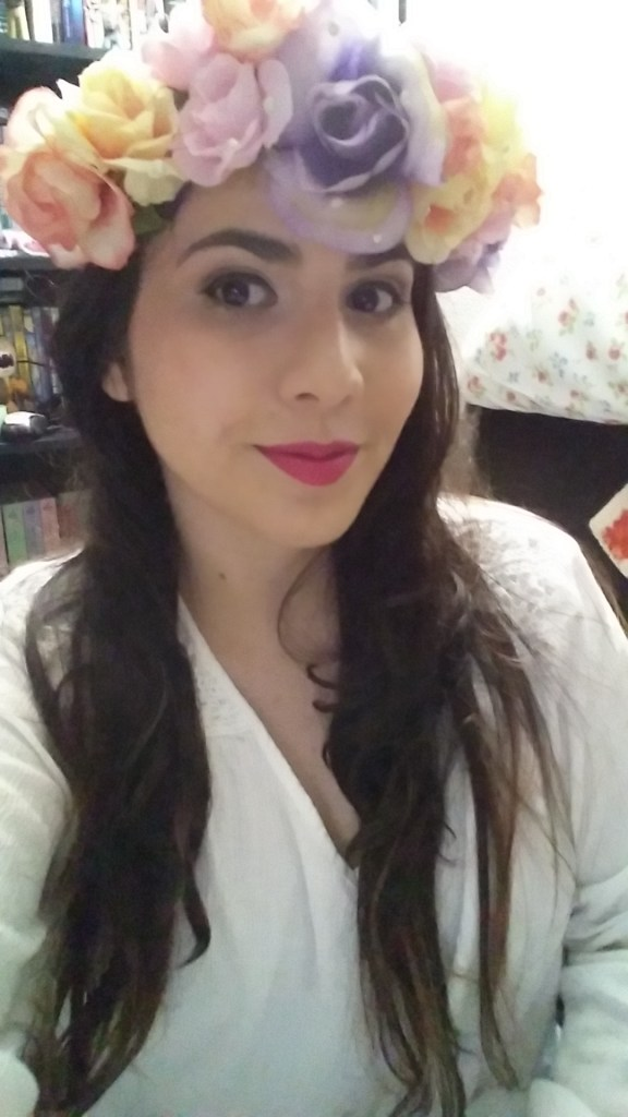 Me looking super age appropriate whilst rocking my awesome handmade flower crown. I made that with my hands. I know, it's pretty cool.