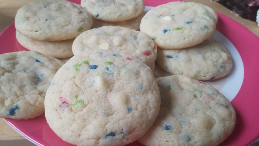 Funfetti or Sprinkle Magic Chocolate Chip Cookies