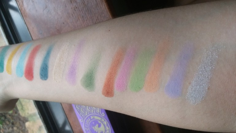 The top one bottom one are China Doll's swatches the middle one are Alchemy 's, and last but not least, we have D'antoinette which I want to marry. Okay, so I want to marry all of these. Don't judge me. Get off my back!