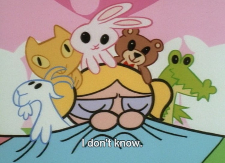 I don't own this image. This is from the Powerpuff girls. However, I relate to little Ms. Bubbles here. I don't know feels either, Bubbles and sometimes your stuff friends are the only help.