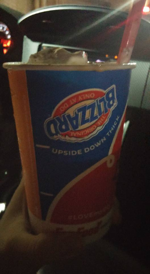 THIS WAS MY TREAT! You guys, pumpkin DQ BLIZZARDS ARE MY EVERYTHING NOW ;__;