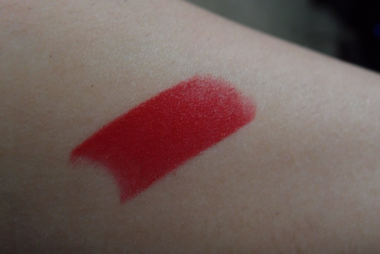This red is just perfect! This is a swatch of it on my arm because that's what you do when you swatch, right?