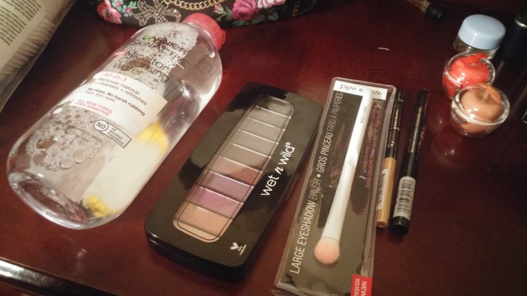 I bought a few items that I wanted to try out during the spring. That Garnier Micellar water, though. That Wet n' Wild brush was a lot nicer than I expected too and just a dollar!