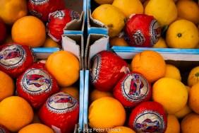 Orangenhaufen
