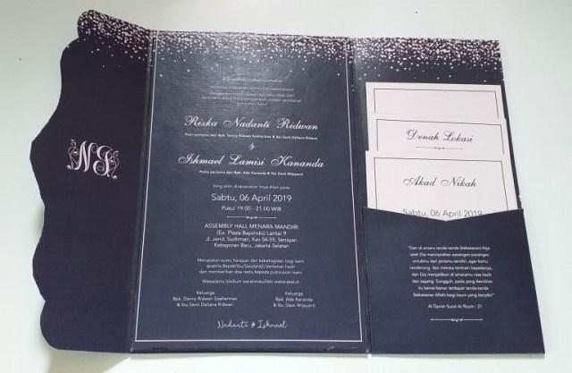 Contoh Undangan Pernikahan Simple Dan Elegan Jasa Cetak Undangan