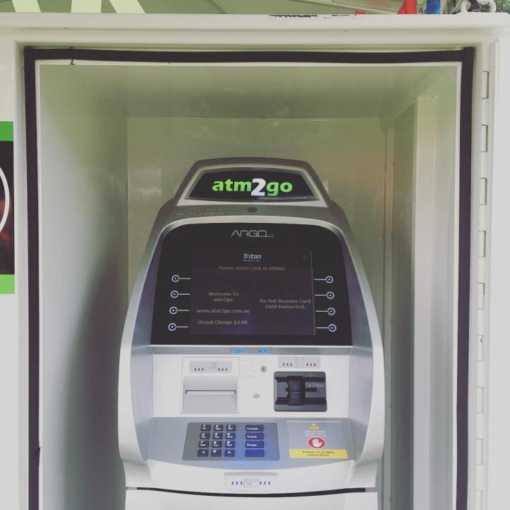 ATMs! We've had a lot of feedback about the lack of cash drawing facilities at the market, so this month we're trialling portable ATMs for your convenience!