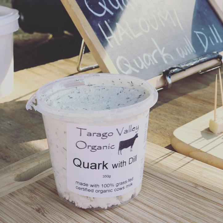 Quark with dill, the perfect dip with some crunchy raw vegetables. Available from @taragovalley