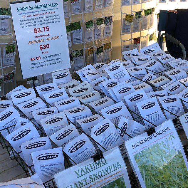 New to Warragul Farmers Market are Grow Heirloom Seeds 🌱 A large percentage of their seeds are grown in Grantville and Warragul and are all heritage. Come down to stock up with their special 10 packs for $30